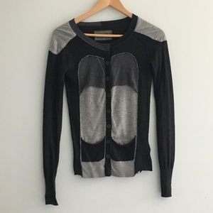 All Saints Long Sleeve Cardigan Sweater